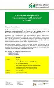 Stammtisch für migrantische Unternehmerinnen und Unternehmer in Dresden<br/>