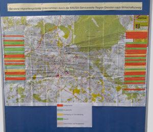 """Erstellung der Stadtkarte Dresden  """"Beratene migrantengeführte Unternehmen durch die KAUSA-Servicestelle Region Dresden"""" <br/>"""
